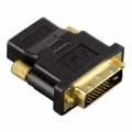 Hama Compact Adapter, DVI-D plug - HDMI™ socket, black 00034035